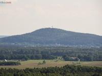Widok z latarni Czołpino - Góra Rowokół