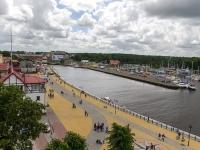 Port Ustka - widok z latarni morskiej