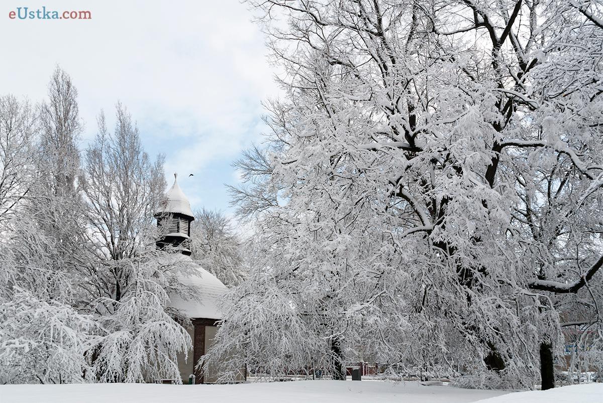 Plac Błogosławionego Bronisława Kostkowskiego - zima