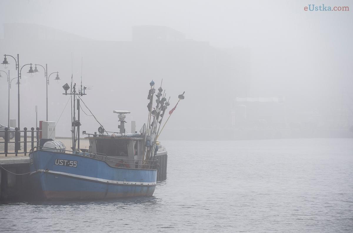 mgła Ustka - port 3
