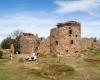 Ruiny twierdzy Hammershus, znajdujące się na północy wyspy