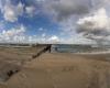 Trzecie maolo Ustka - kitesurfing