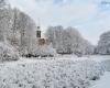 Park im. J. Waldorffa - zima w Słupsku