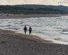 Spacer po plaży w Ustce