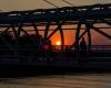 Kładka o zachodzie słońca - Ustka