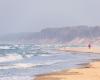 Widok na plażę w kierunku Orzechowa