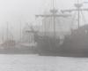 mgła Ustka - port 2