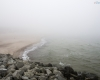 mgła Ustka - plaża