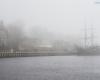 mgła Ustka - w porcie