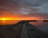 drugie molo - zachód słońca Ustka - 23 czerwca 3013 r.