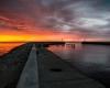 drugie molo - zachód słońca Ustka - 23 czerwca 3013 r. 2