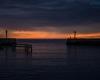 Wejście do portu - zachód słońca Ustka - 23 czerwca 3013 r. 2