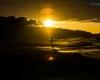 Ustka - zachód słońca 1 marca 2013