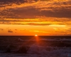 Zachód słońca - Ustka 3-molo b