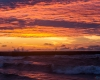 Zachód słońca - Ustka 3-molo d