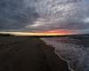 Zachód słońca - Ustka 3-molo e