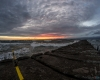 Zachód słońca - Ustka 3-molo f