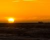 Zachód słońca - sztorm Ustka 2