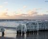 Ustka plaża wschodnia - zima 23-01-2014