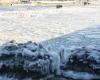 Zima - wejście do portu Ustka 6