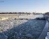 Zima - wejście do portu Ustka 7