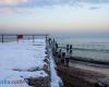 Trzecie molo Ustka zima panorama