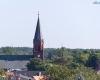 Widok z latarni Ustka - kościół