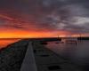 panorama - zachód słońca Ustka - 23 czerwca 3013 r.
