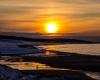 Ustka - zachód słońca, zima