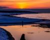 Ustka - zachód słońca, zima 3