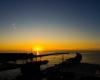 Ustka - zachód słońca, widok z latarni morskiej
