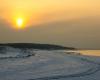 Ustka - zachód słońca, zima 5