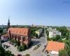 Widok z wieży zamku - ulica M. Mostnika