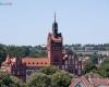 Widok z wieży - Ratusz miejski w Słupsku