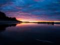 Zachód słońca w Ustce