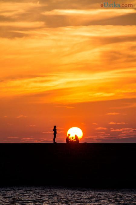 Zachód słońca Ustka 2