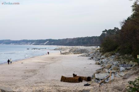 Kamienie na plaży w Ustce