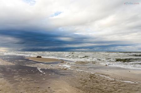 Plaża w Czołpinie - zimowe widoki a
