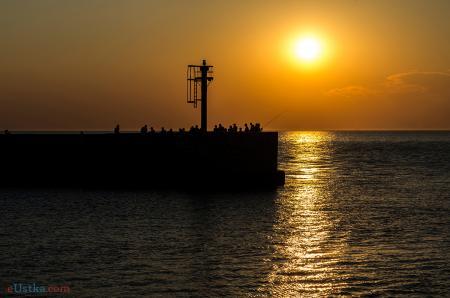 Zachód słońca - Ustka