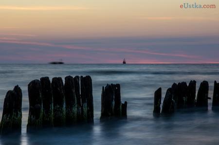 Zachód słóńca Ustka -plaża wschodnia 4