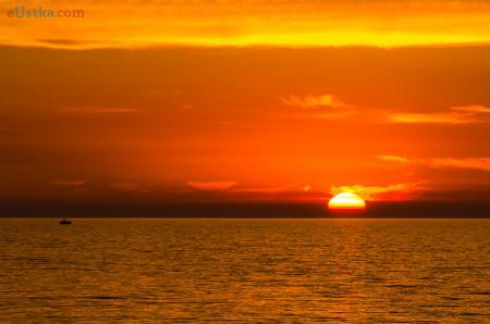 Zachód słońca w Ustce 6