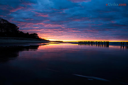 Ustka - zachód słońca 1 marca 2013 -2