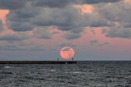 Zachód Księżyca - Ustka 7