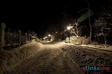Ustka Zimą - noc - 9.12.2012r.
