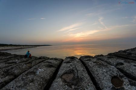 Zachód słońca - Ustka 3-molo 11.09.2016r f