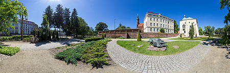 Ogród zamkowy - Zamek Książąt Pomorskich w Słupsku