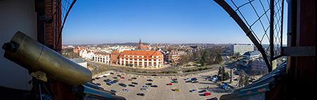 Ratusz w Słupsku - widok z wieży